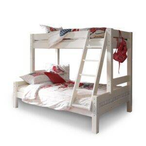 Richter young design 3-persoons stapelbed TRIPLO - Wit Wit