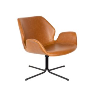 Zuiver Lounge Chair NIKKI - All Brown Bruin